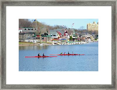 Rowing Along The Schuylkill River Framed Print