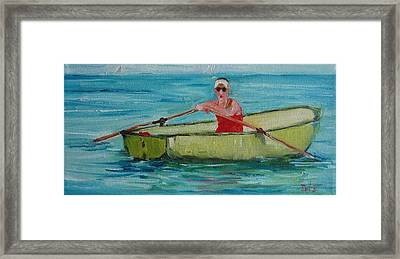 Rowing Away Framed Print by Irit Bourla