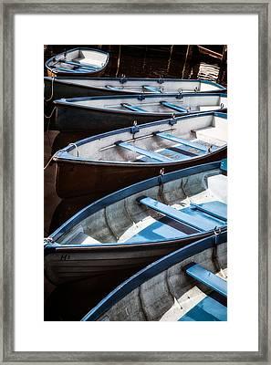 Rowing Boats Framed Print by Joana Kruse