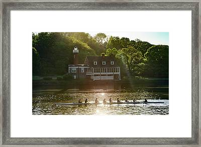 Framed Print featuring the photograph Rowing In Front Of Segley Club by Bill Cannon