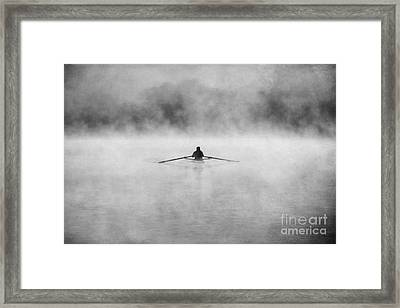 Rowing On The Chattahoochee Framed Print by Darren Fisher