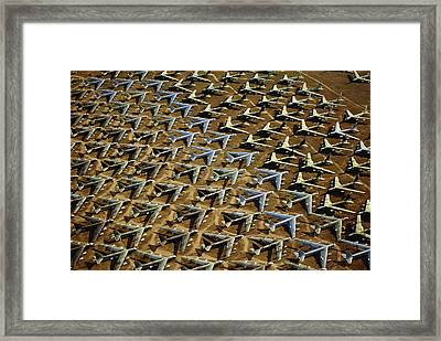 Rows Of B-52s Tucson Az Framed Print by Panoramic Images