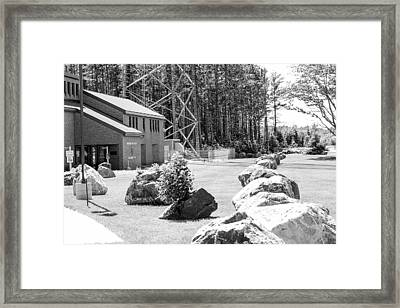 Rows Of Rocks Guarding The Police Framed Print by Kendall Tabor