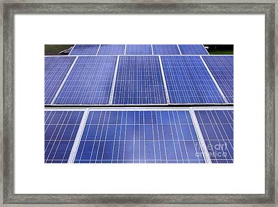 Framed Print featuring the photograph Rows Of Solar Panels by Yali Shi