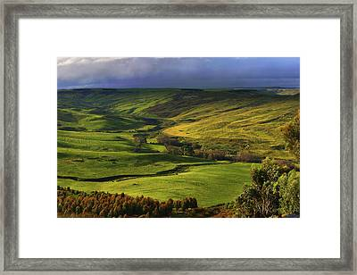 Rowsley Valley Framed Print by David Hibberd