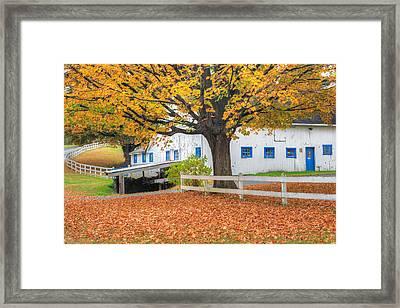 Roxbury Connecticut Barn Framed Print by Bill Wakeley