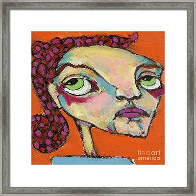 Framed Print featuring the painting Roxie Box by Michelle Spiziri