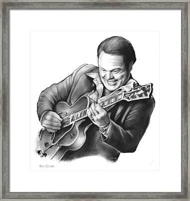 Roy Clark Framed Print by Greg Joens