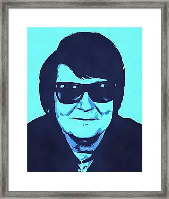 Roy Orbison Framed Print by Dan Sproul