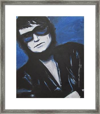 Roy Orbison In Beautiful Dreams - Forever Framed Print by Eric Dee