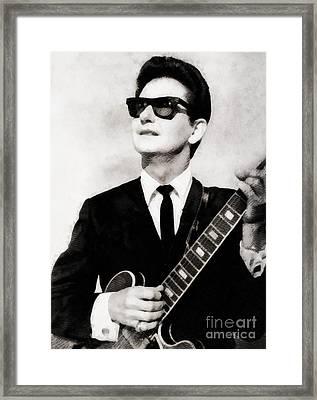 Roy Orbison, Legend Framed Print by John Springfield