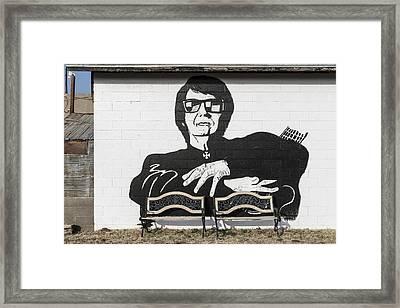 Roy Orbison Mural In Wink Framed Print by Carol M Highsmith