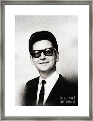 Roy Orbison, Music Legend Framed Print