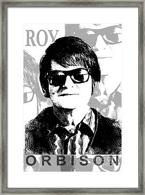 Roy Orbison Framed Print by Patrick Dablow