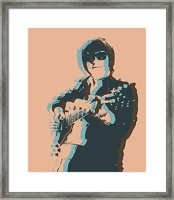 Roy Orbison Pop Framed Print by Dan Sproul