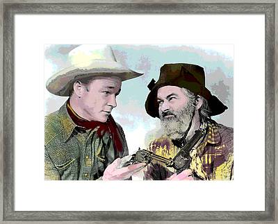 Roy Rogers And Gabby Hayes Framed Print