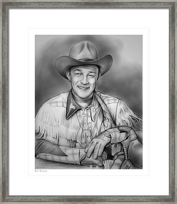 Roy Rogers Framed Print by Greg Joens