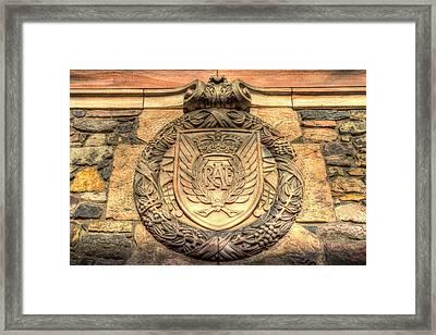 Royal Airforce Insignia At Edinburgh Castle  Framed Print