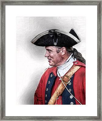 Royal American Soldier Portrait Framed Print by Randy Steele