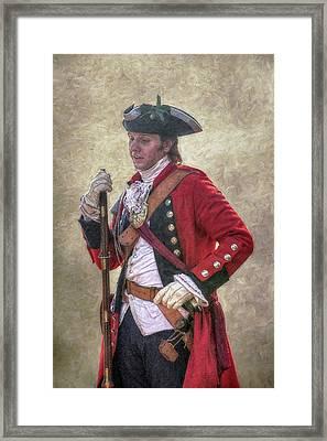 Royal Americans Officer Portrait  Framed Print by Randy Steele