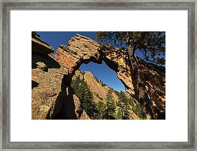 Royal Arch Trail Arch Boulder Colorado Framed Print