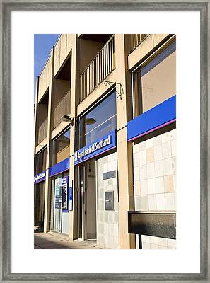 Royal Bank Of Scotland Framed Print by Tom Gowanlock