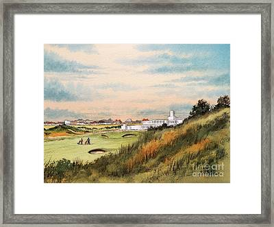 Royal Birkdale Golf Course 18th Hole Framed Print by Bill Holkham