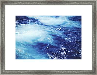 Royal Blue Framed Print by Clem Onojeghuo