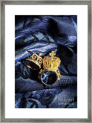 Royal Blue Couple Framed Print