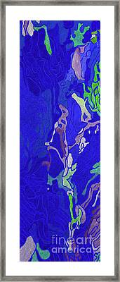Royal Blue Rice Paddy Fields In China Framed Print by Christine Dekkers