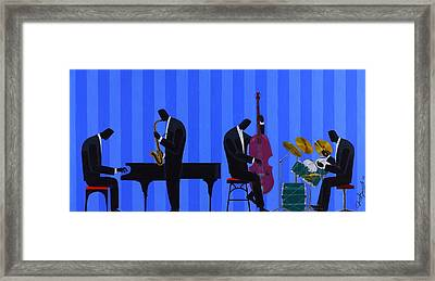Royal Blues Quartet Framed Print