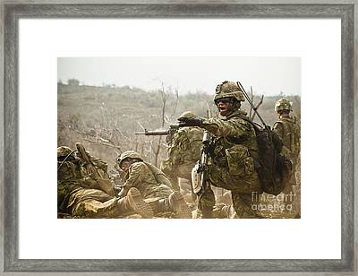 Royal Canadian Army Officer Directs Framed Print by Stocktrek Images