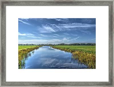 Royal Canal And Grasslands Framed Print