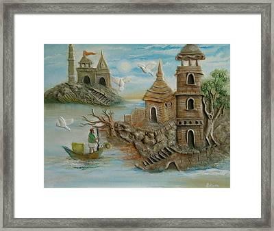 Royal Castle Mural Painting 3d Framed Print by Chetana Mantri