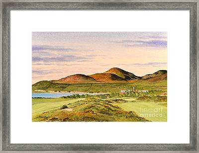 Framed Print featuring the painting Royal County Down Golf Course by Bill Holkham