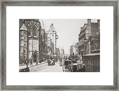 Royal Courts Of Justice, Aka Law Framed Print by Vintage Design Pics