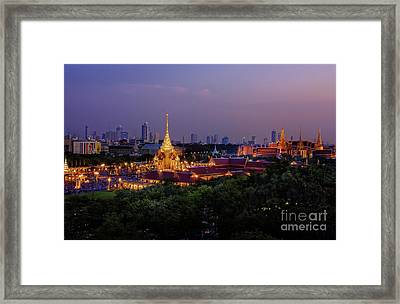 Royal Cremation Ceremony Framed Print