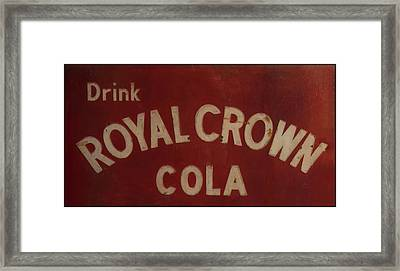 Framed Print featuring the photograph Royal Crown Cola Sign by Chris Flees