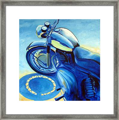 Royal Enfield Framed Print by Janet Oh