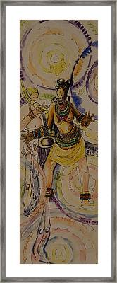 Royal Entry Framed Print by Alfred Awonuga