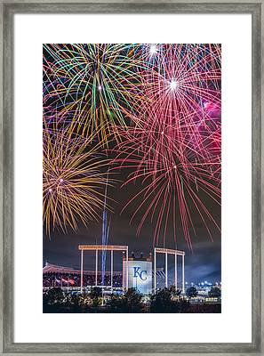 Royal Fireworks Framed Print