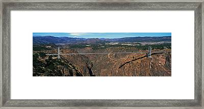 Royal Gorge Bridge Arkansas River Co Framed Print by Panoramic Images