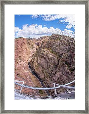 Royal Gorge From The Bridge Framed Print by Jim Hughes