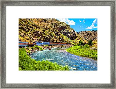 Royal Gorge Railroad Framed Print by Jon Burch Photography