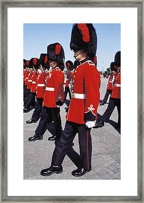 Framed Print featuring the photograph Royal Guards In Ottawa by Carl Purcell