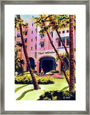 Royal Hawaiian Hotel On Waikiki Beach #131 Framed Print by Donald k Hall