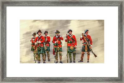 Royal Highlanders Review Framed Print by Randy Steele