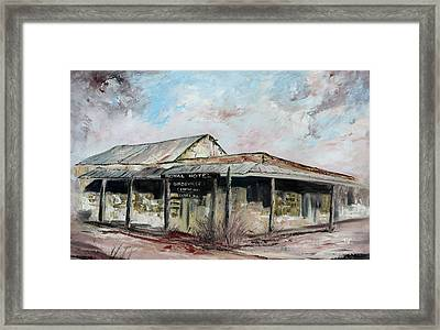 Royal Hotel, Birdsville Framed Print