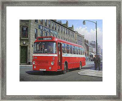 Framed Print featuring the painting Royal Hotel by Mike Jeffries
