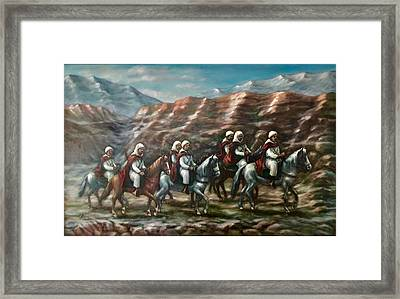 Framed Print featuring the painting Royal Knights by Laila Awad Jamaleldin